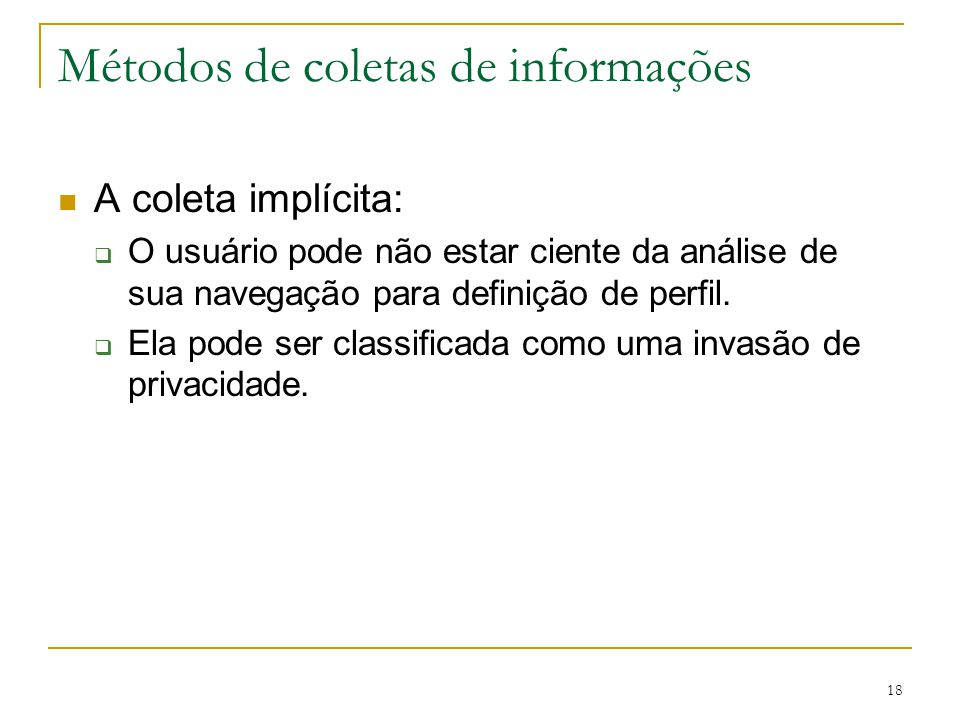 Métodos de coletas de informações
