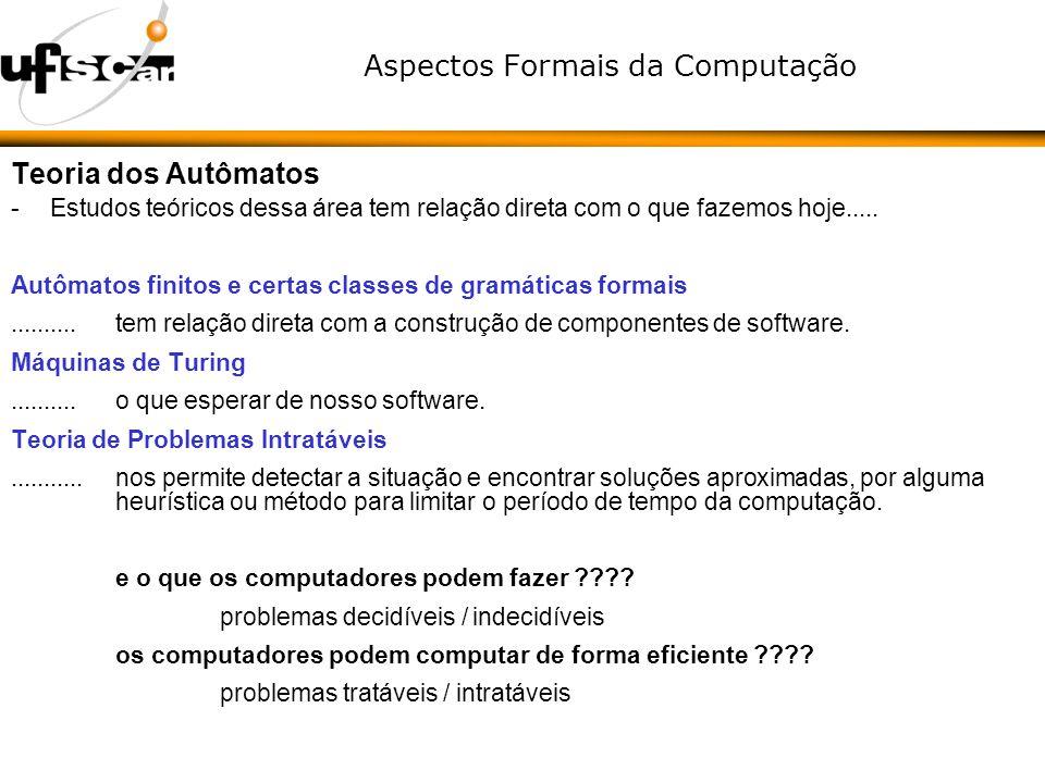 Aspectos Formais da Computação