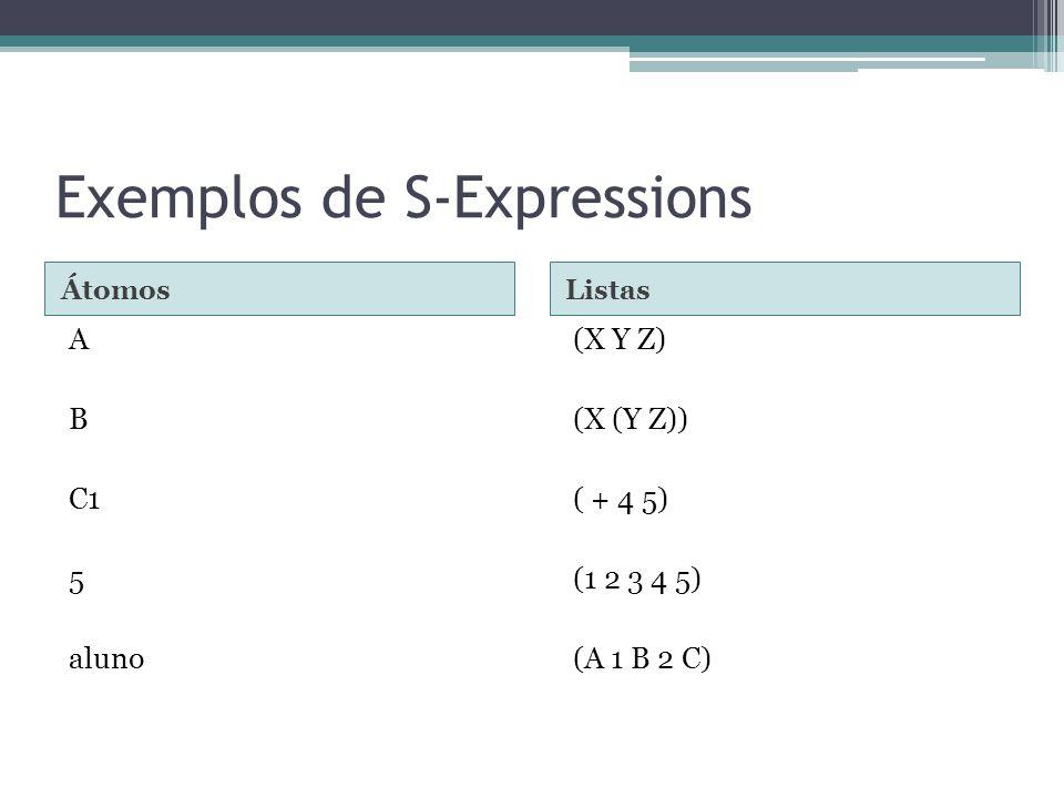 Exemplos de S-Expressions