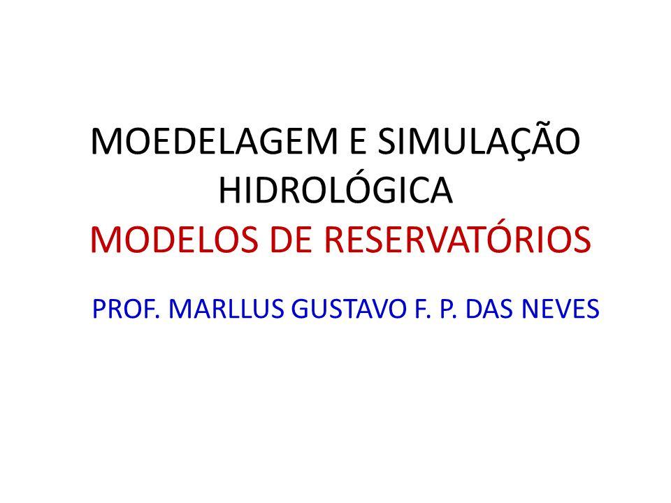 MOEDELAGEM E SIMULAÇÃO HIDROLÓGICA MODELOS DE RESERVATÓRIOS