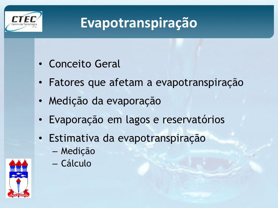 Evapotranspiração Conceito Geral