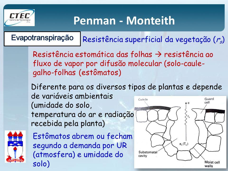 Penman - Monteith Evapotranspiração