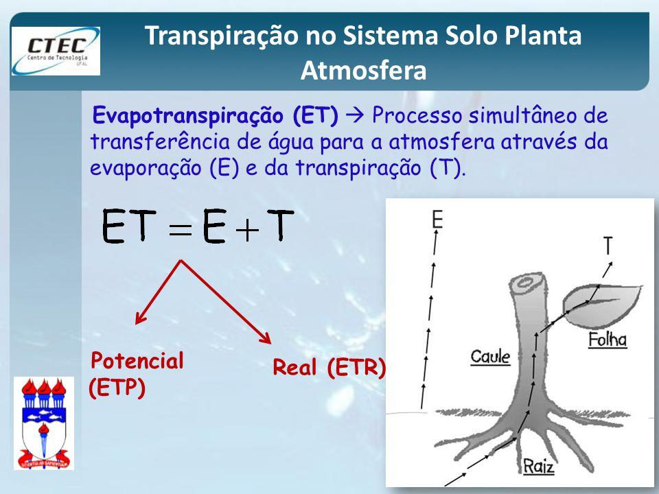 Transpiração no Sistema Solo Planta Atmosfera