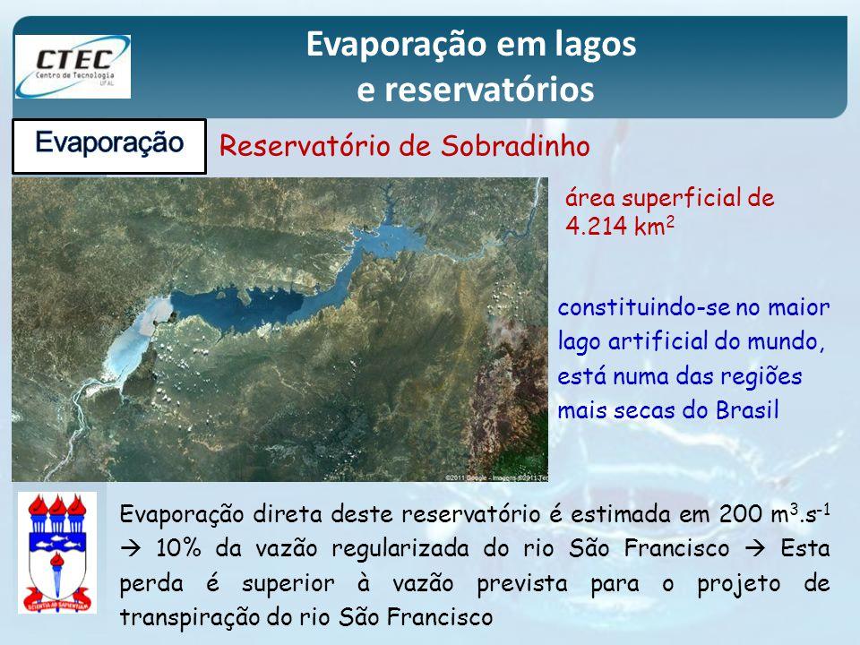 Evaporação em lagos e reservatórios