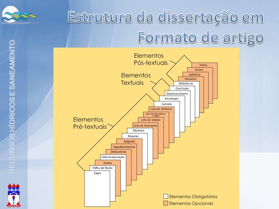 Estrutura da dissertação em