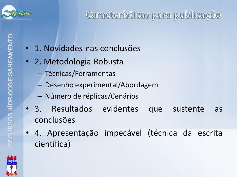 Características para publicação