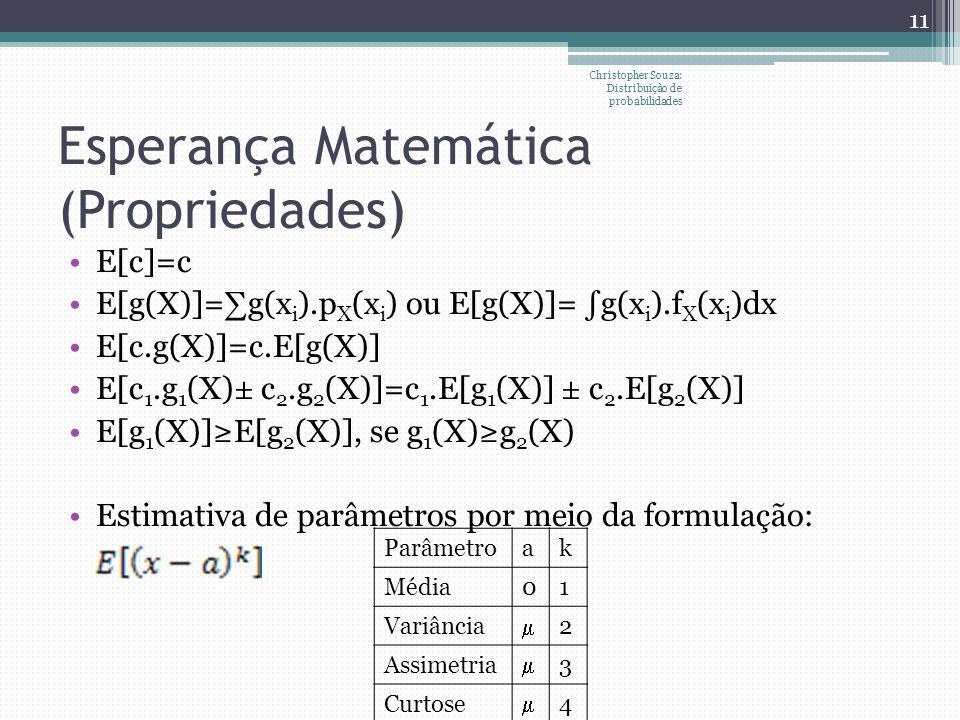 Esperança Matemática (Propriedades)