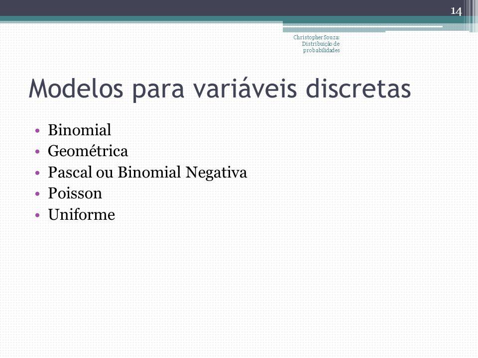 Modelos para variáveis discretas