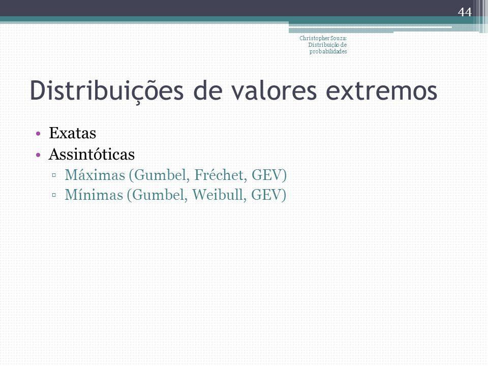 Distribuições de valores extremos