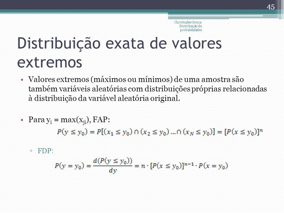 Distribuição exata de valores extremos