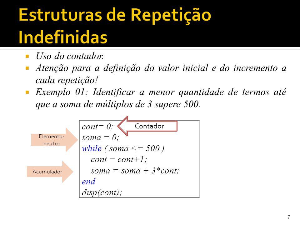 Estruturas de Repetição Indefinidas