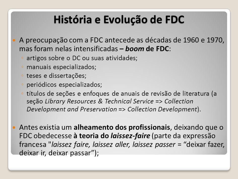 História e Evolução de FDC