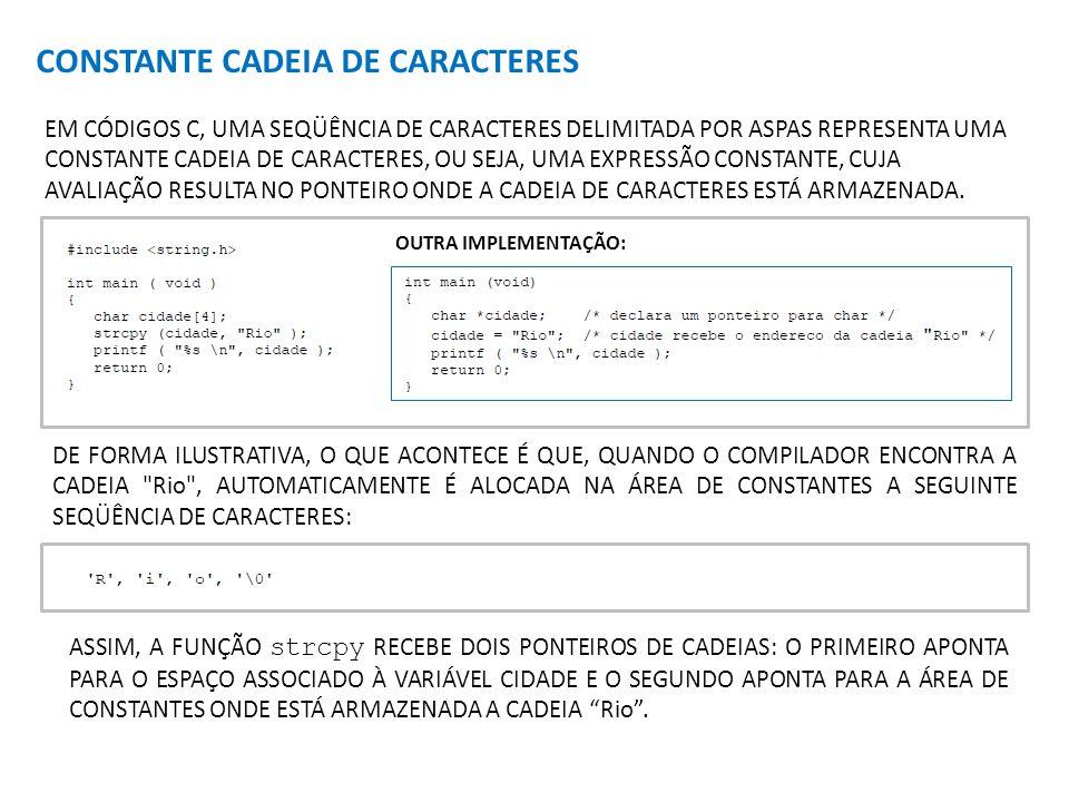 CONSTANTE CADEIA DE CARACTERES