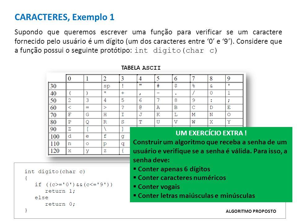 CARACTERES, Exemplo 1