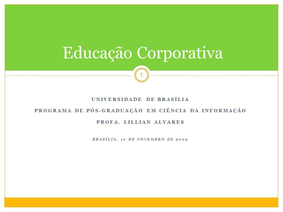 Educação Corporativa Universidade de brasília