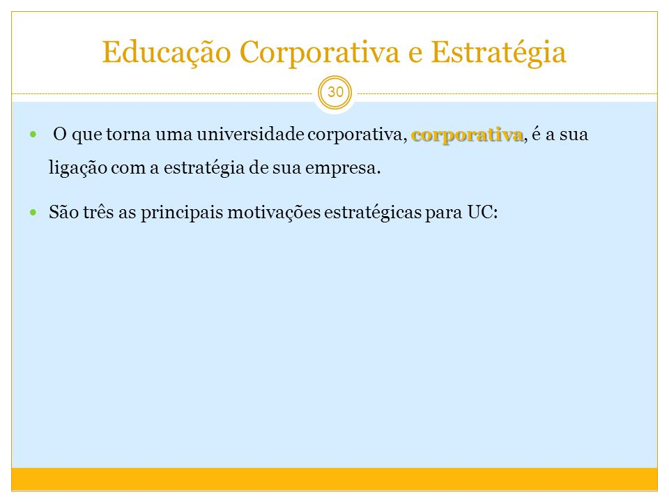 Educação Corporativa e Estratégia