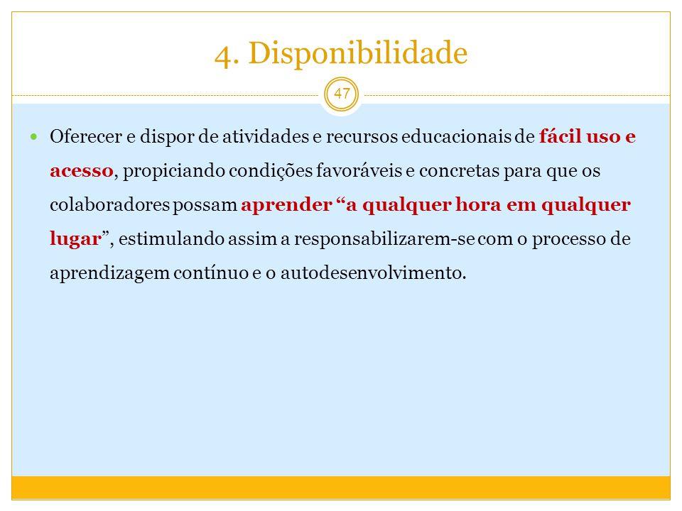 4. Disponibilidade