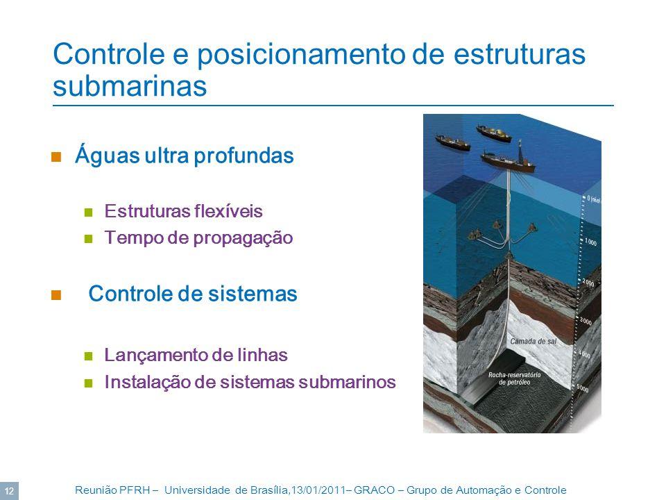 Controle e posicionamento de estruturas submarinas