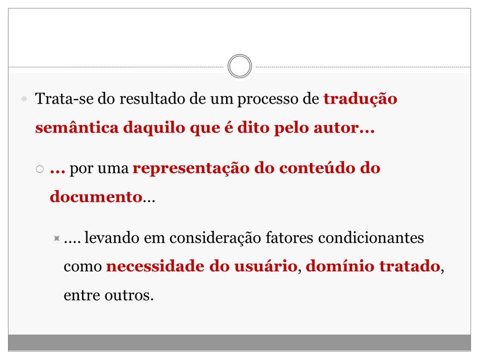 Trata-se do resultado de um processo de tradução semântica daquilo que é dito pelo autor...