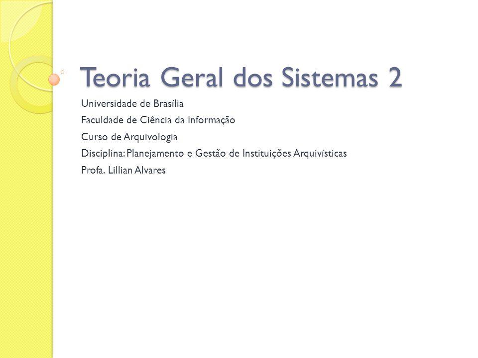 Teoria Geral dos Sistemas 2
