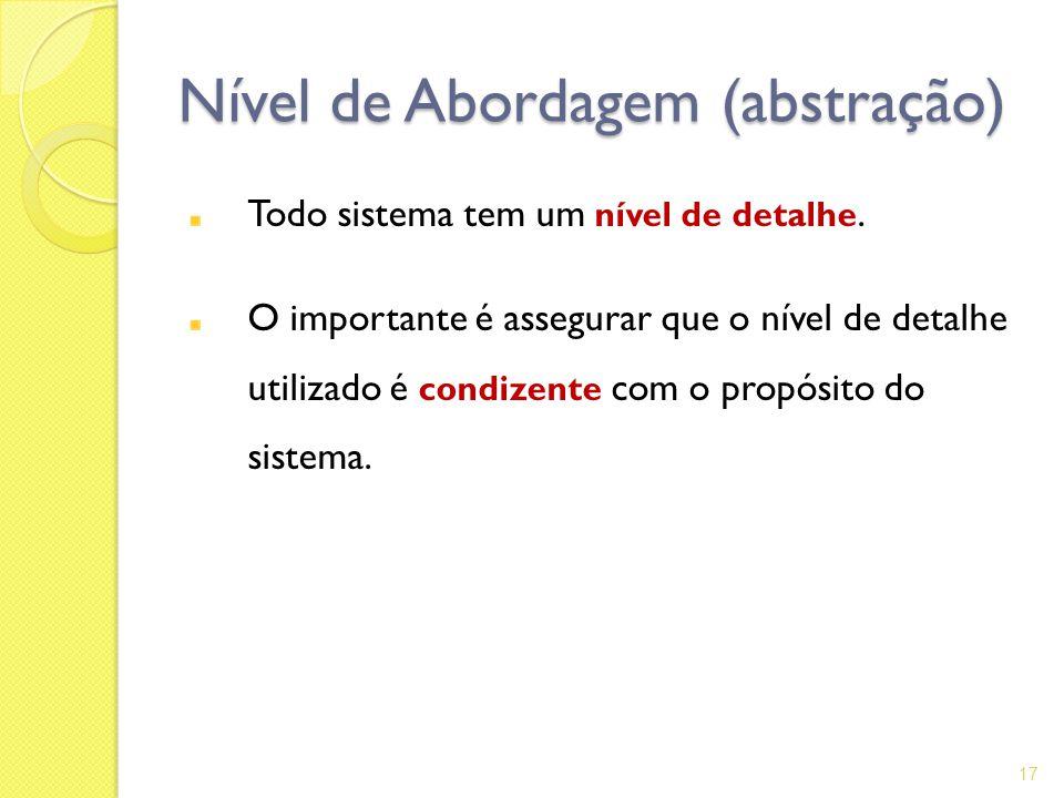 Nível de Abordagem (abstração)