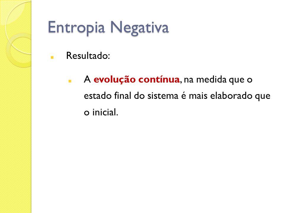 Entropia Negativa Resultado: