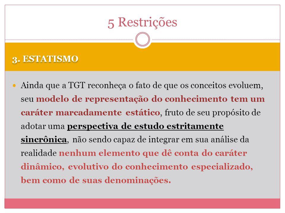 5 Restrições 3. ESTATISMO.