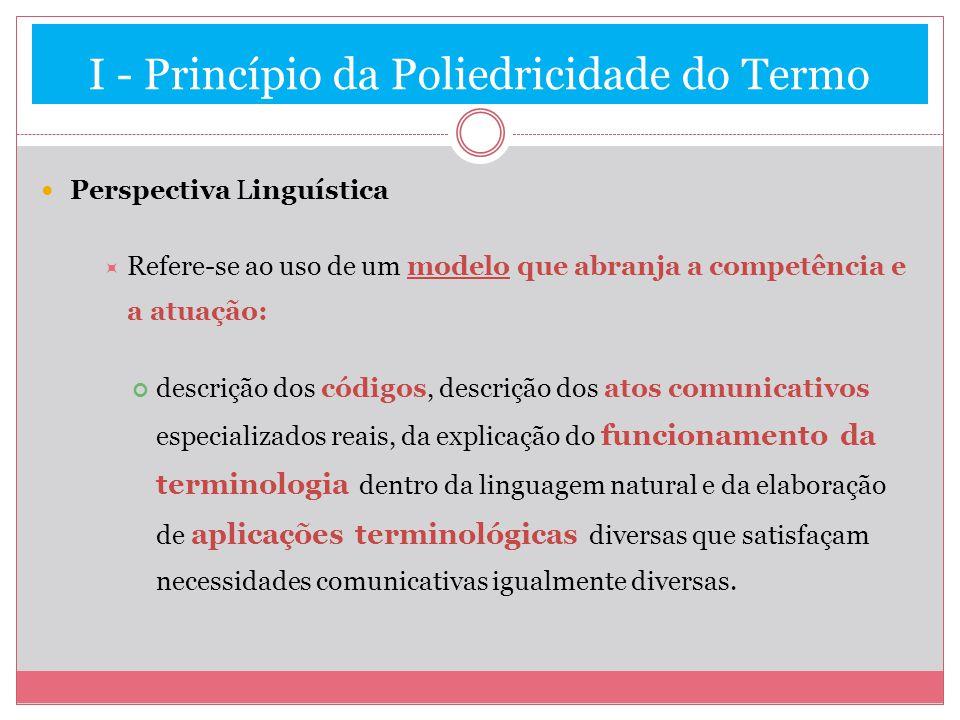 I - Princípio da Poliedricidade do Termo