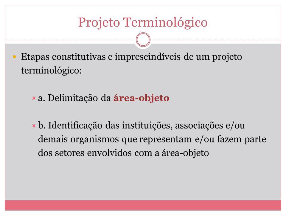 Projeto Terminológico