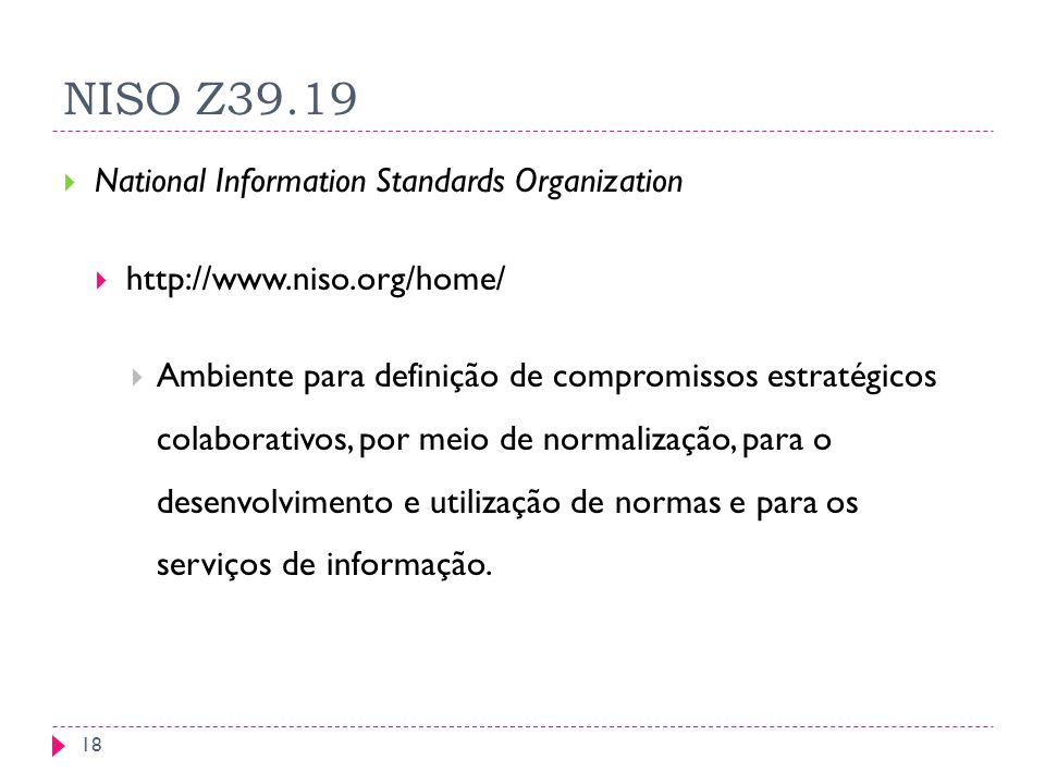 NISO Z39.19 National Information Standards Organization