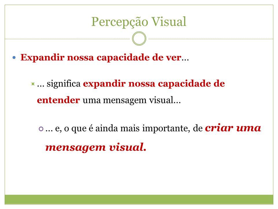 Percepção Visual Expandir nossa capacidade de ver...