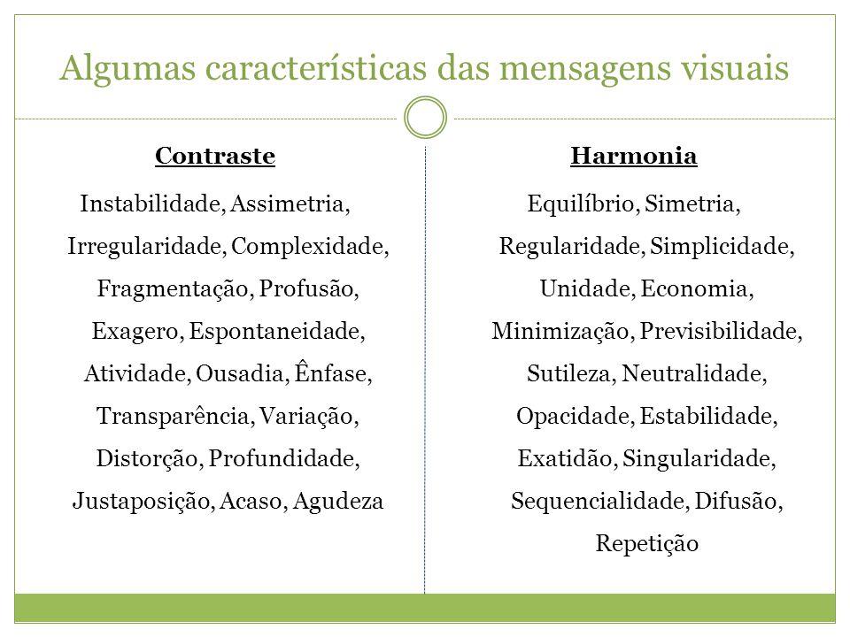 Algumas características das mensagens visuais