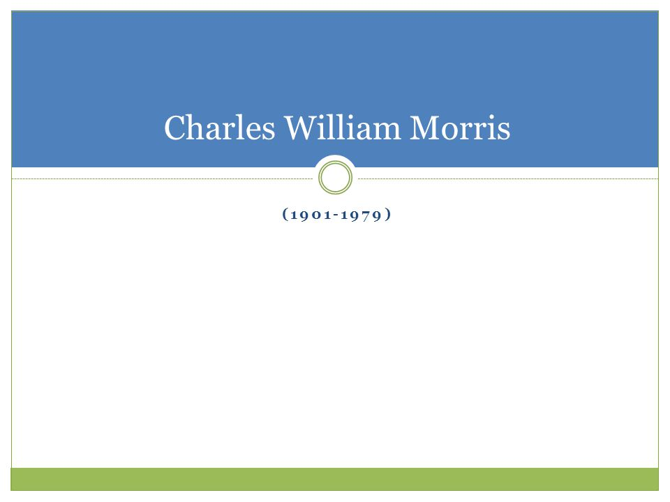 Charles William Morris