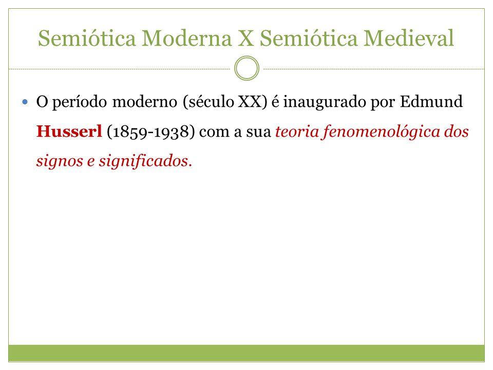 Semiótica Moderna X Semiótica Medieval