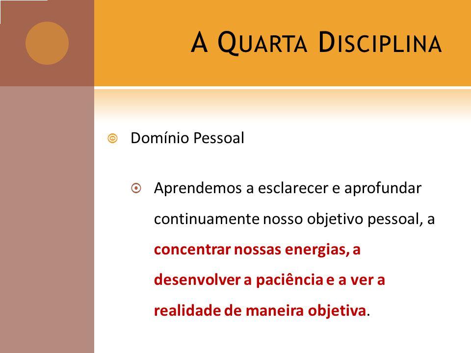 A Quarta Disciplina Domínio Pessoal