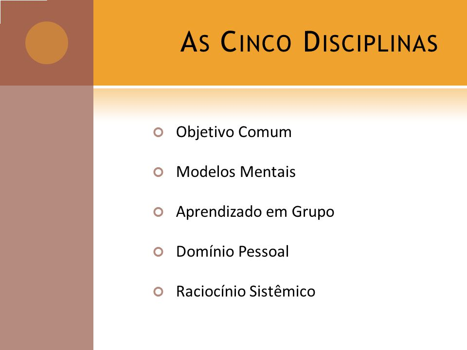 As Cinco Disciplinas Objetivo Comum Modelos Mentais