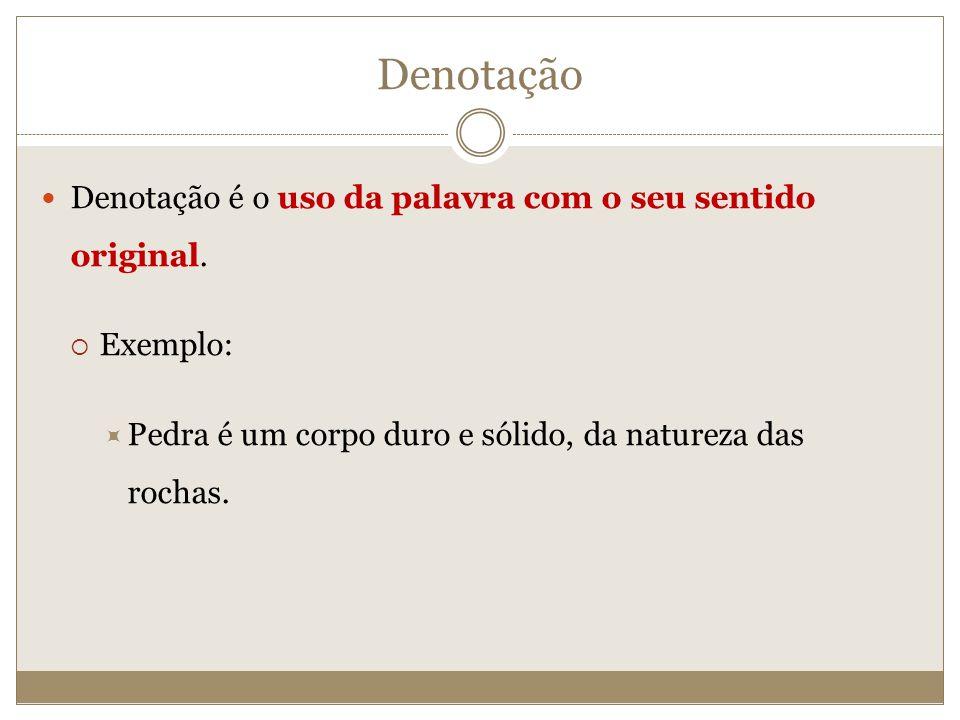 Denotação Denotação é o uso da palavra com o seu sentido original.