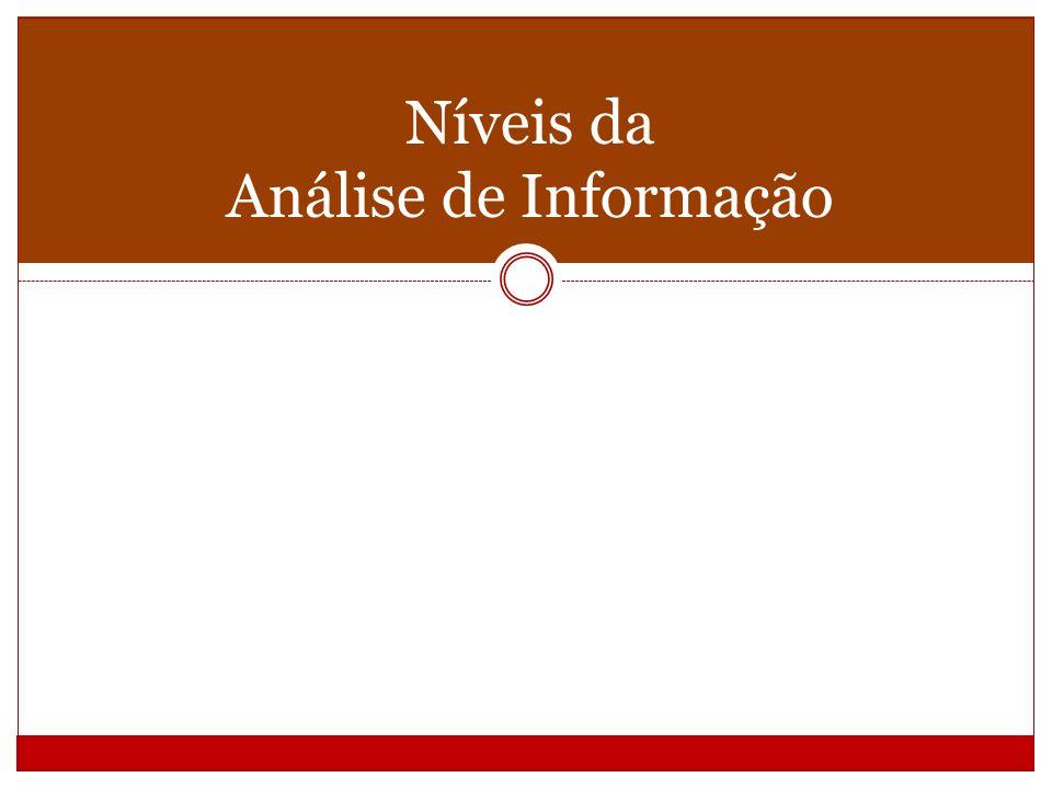 Níveis da Análise de Informação