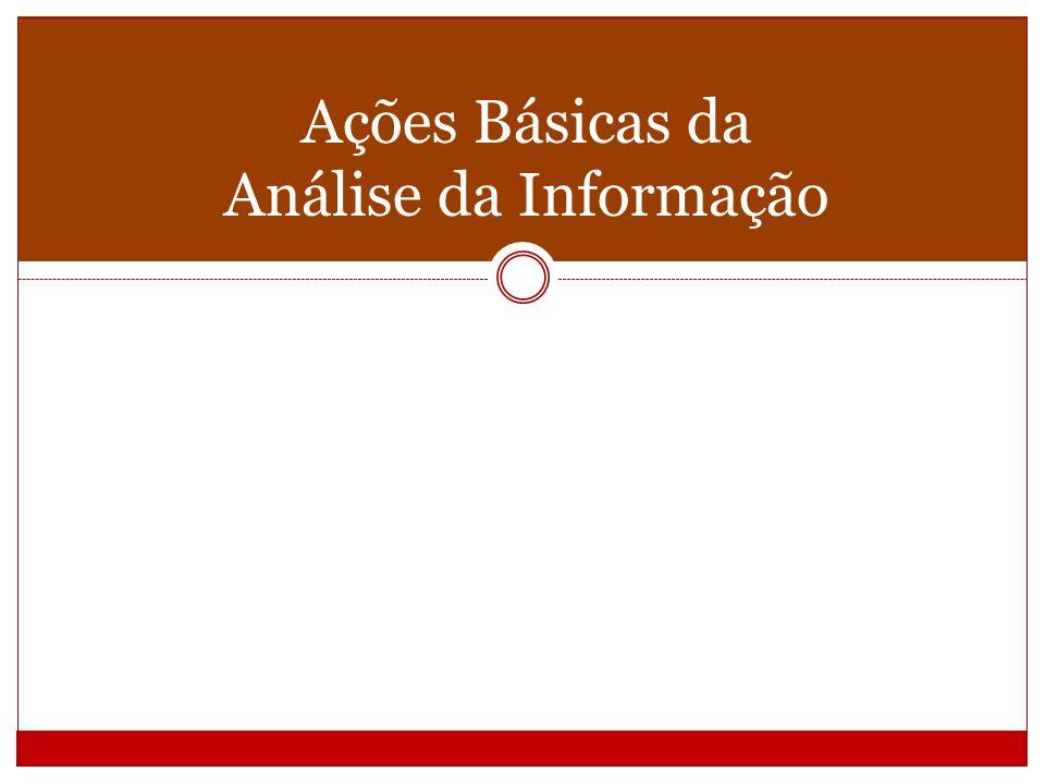 Ações Básicas da Análise da Informação
