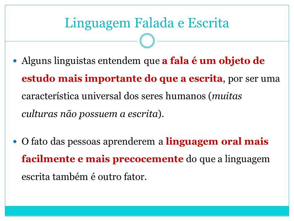 Linguagem Falada e Escrita