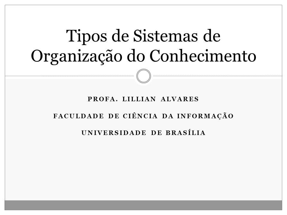 Tipos de Sistemas de Organização do Conhecimento