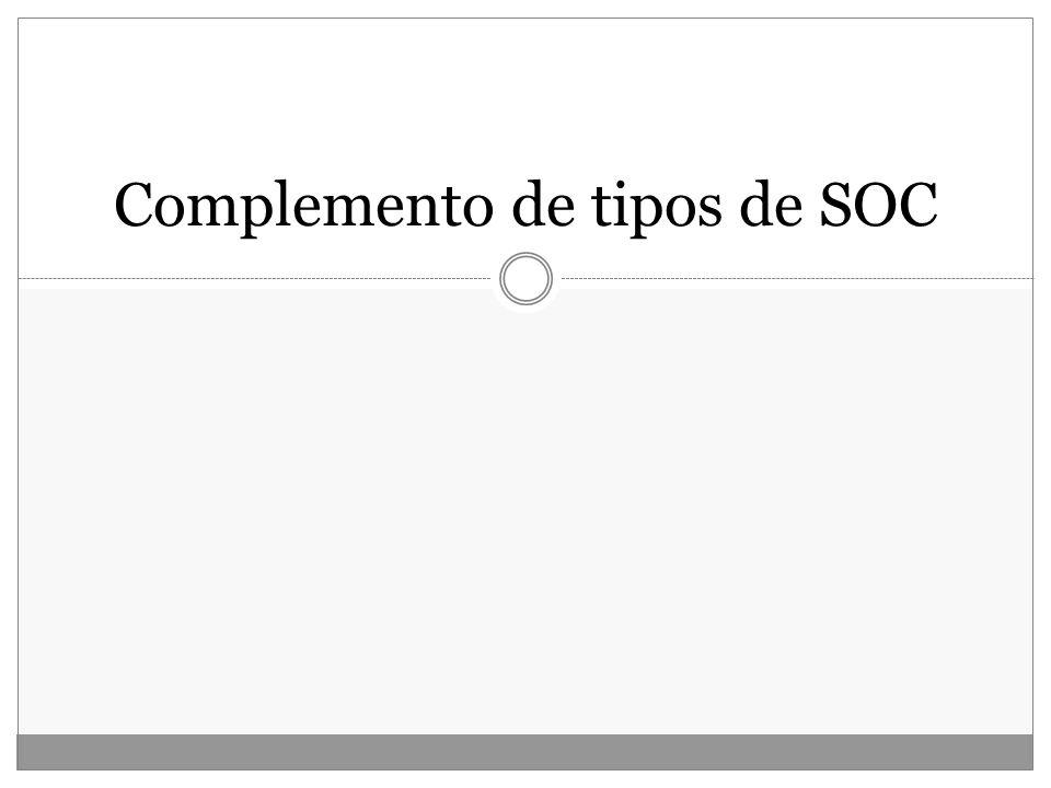 Complemento de tipos de SOC