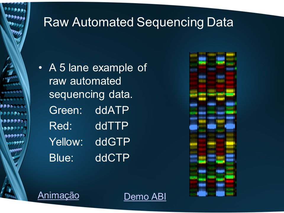 Raw Automated Sequencing Data
