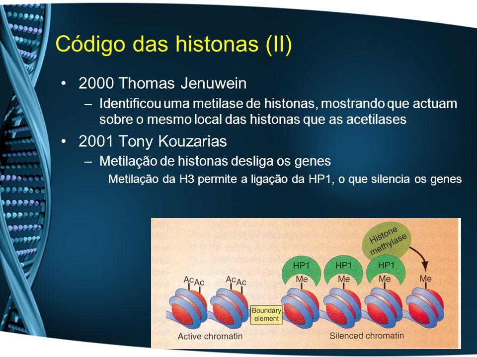 Código das histonas (II)