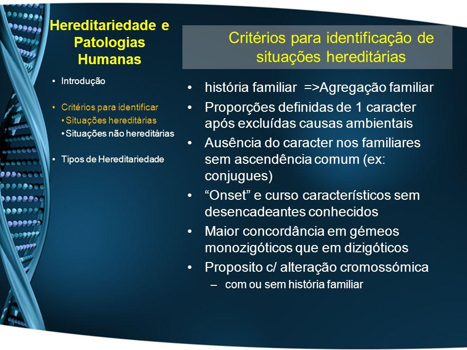 Hereditariedade e Patologias Humanas
