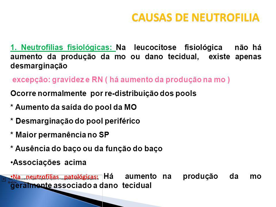 CAUSAS DE NEUTROFILIA