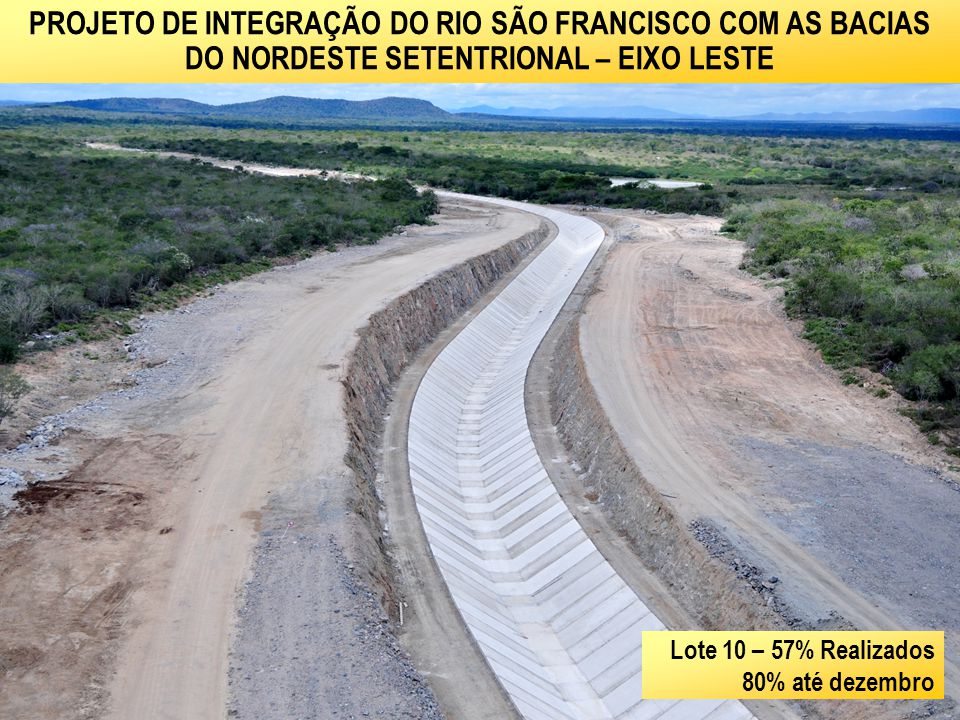 PROJETO DE INTEGRAÇÃO DO RIO SÃO FRANCISCO COM AS BACIAS DO NORDESTE SETENTRIONAL – EIXO LESTE