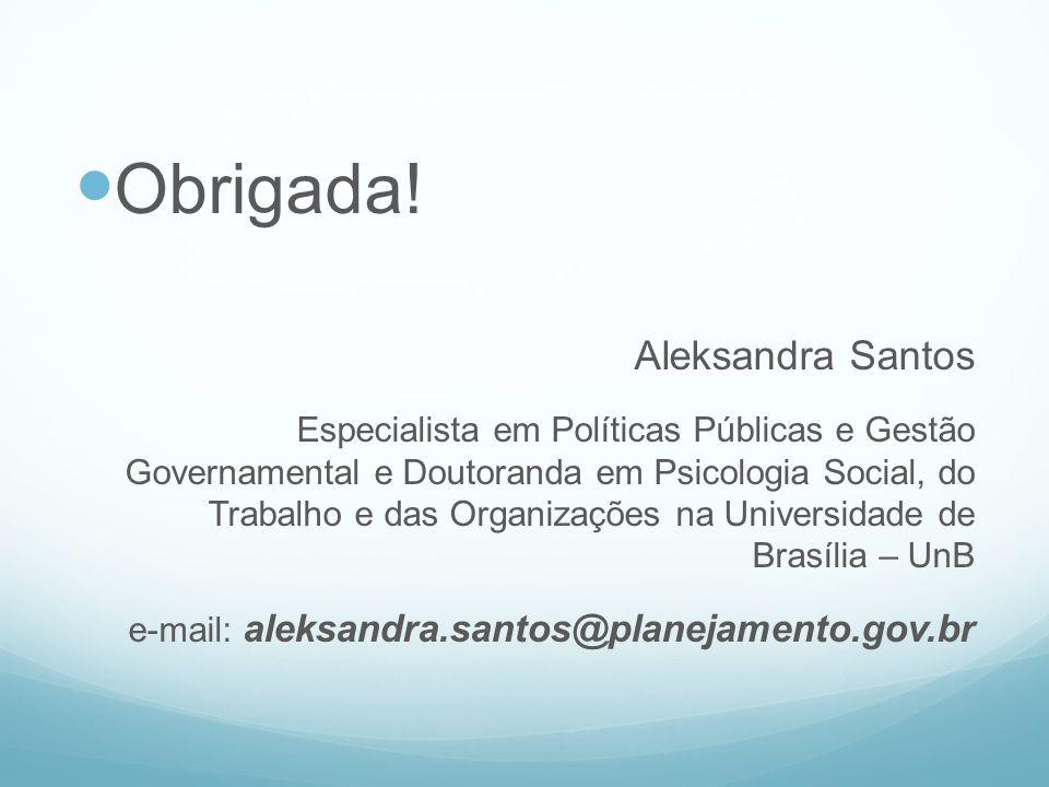 Obrigada! Aleksandra Santos