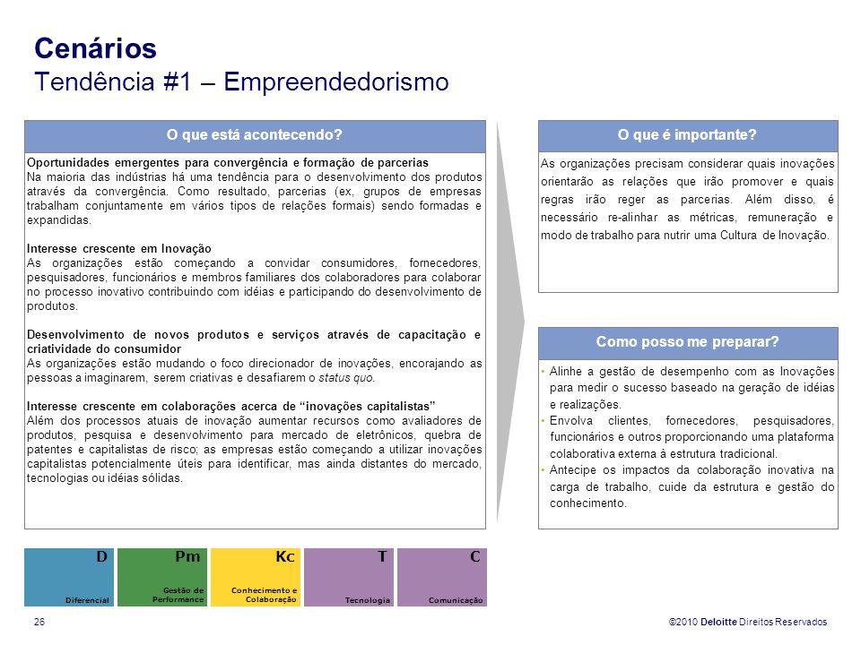 Cenários Tendência #1 – Empreendedorismo