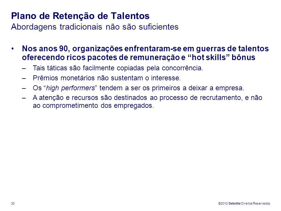 Plano de Retenção de Talentos Abordagens tradicionais não são suficientes